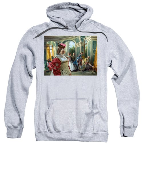 Korthals Pointing Griffon Art Canvas Print  Sweatshirt by Sandra Sij