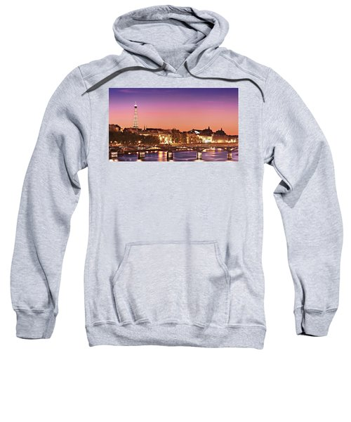 Left Bank At Night / Paris Sweatshirt