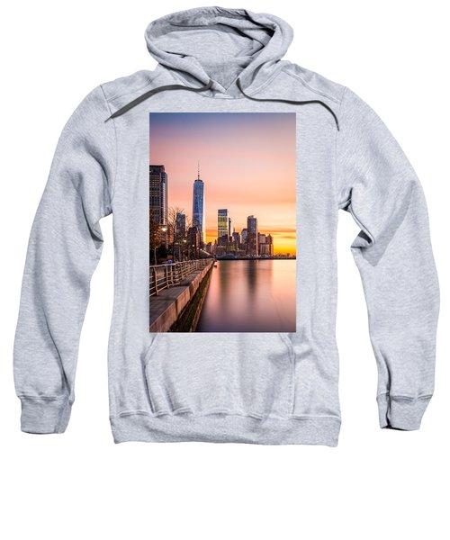 Lower Manhattan At Sunset Sweatshirt