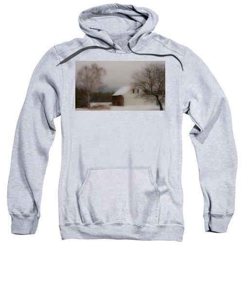 Melvin Village Barn In Winter Sweatshirt