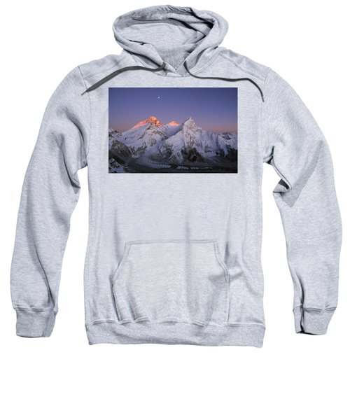 Moon Over Mount Everest Summit Sweatshirt