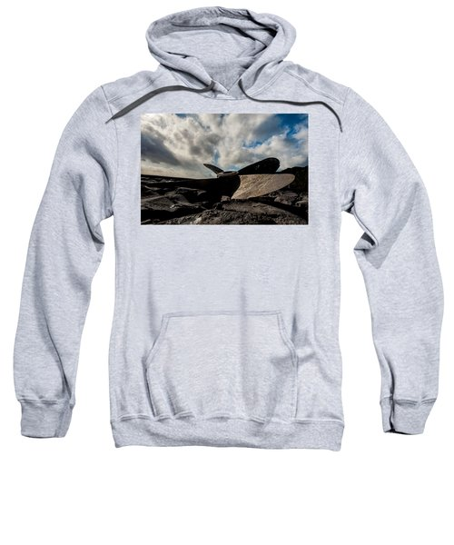 Sweatshirt featuring the photograph Propeller On The Beach by Joseph Amaral
