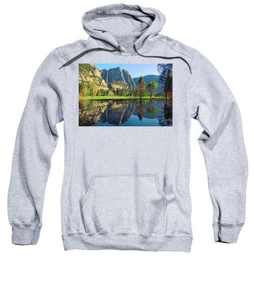 Reflections Of Yosemite Falls Sweatshirt