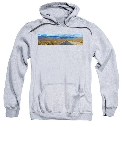 Road Passing Through A Desert, Death Sweatshirt by Panoramic Images