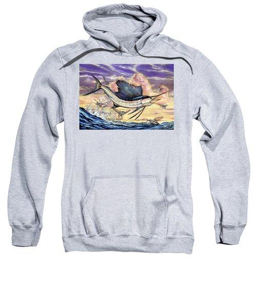 Sailfish And Flying Fish In The Sunset Sweatshirt