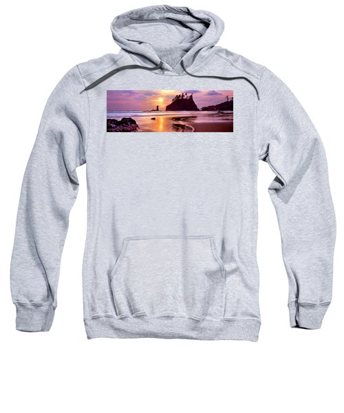Silhouette Of Sea Stacks At Sunset Sweatshirt