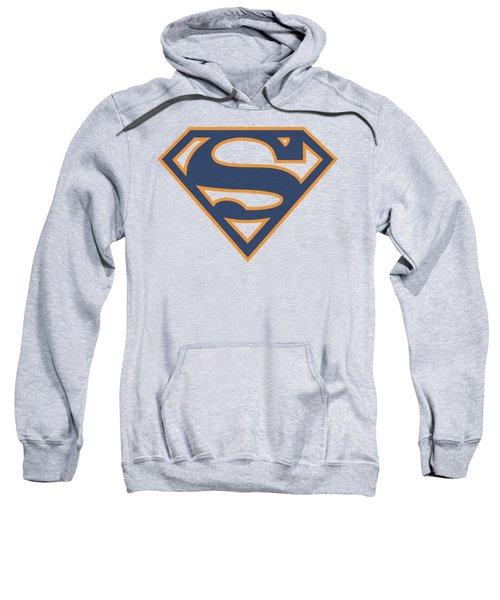 Superman - Navy And Orange Shield Sweatshirt