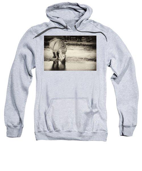 Two White Rhinos  Sweatshirt