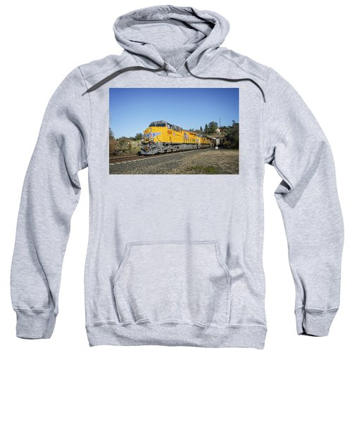 Sweatshirt featuring the photograph Up 8267 by Jim Thompson