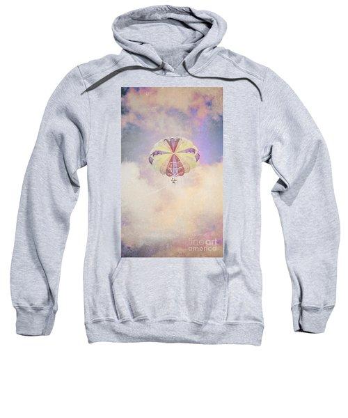Vintage Parachute In Clouds Sweatshirt