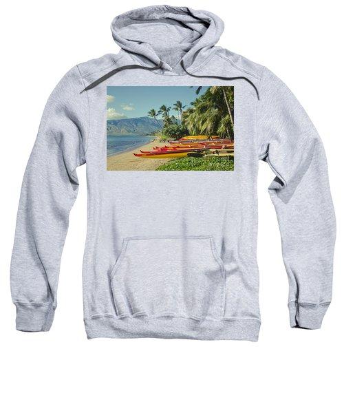 Kenolio Beach Sugar Beach Kihei Maui Hawaii  Sweatshirt