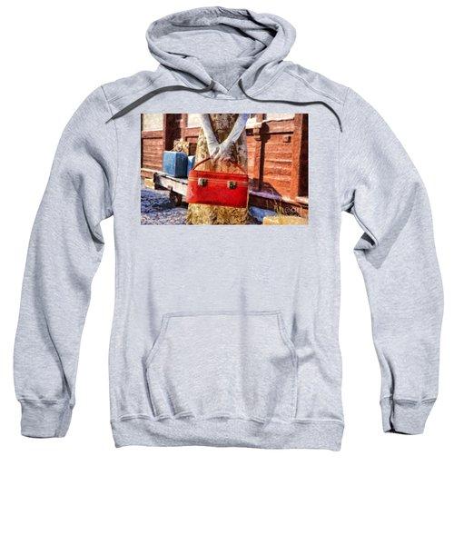 The Woman On Platform 8 Sweatshirt