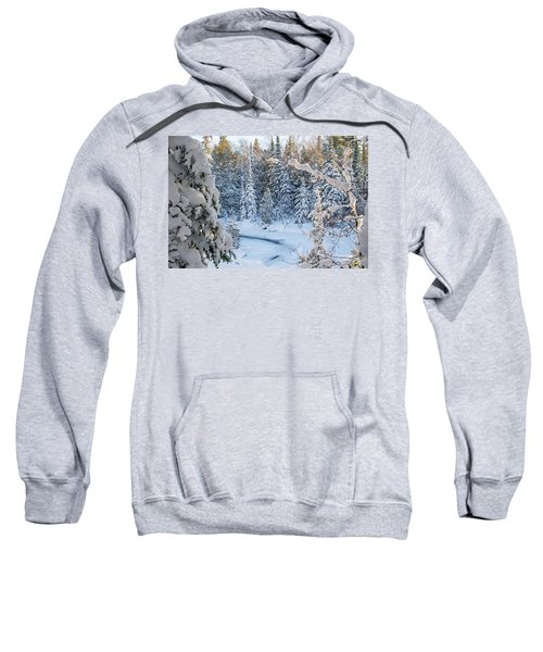 Winter At Grand Marais Creek Sweatshirt