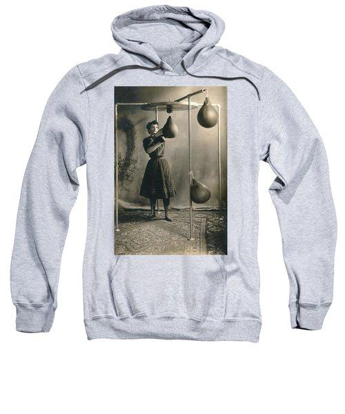 Woman Boxing Workout Sweatshirt