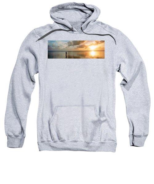 Woman Standing On Sandbar Looking Sweatshirt