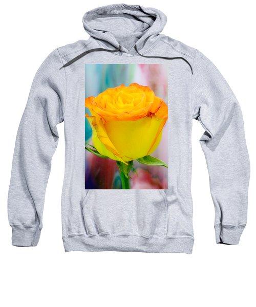 Yellow Rose Macro Sweatshirt