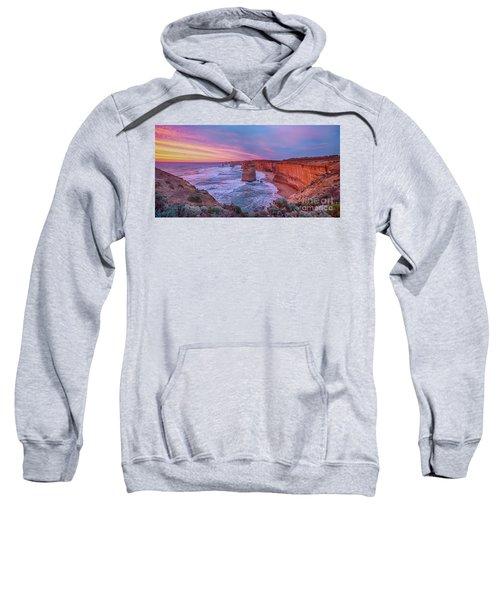12 Apostles At Sunset Pano Sweatshirt