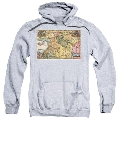 1657 Visscher Map Of The Holy Land  Sweatshirt
