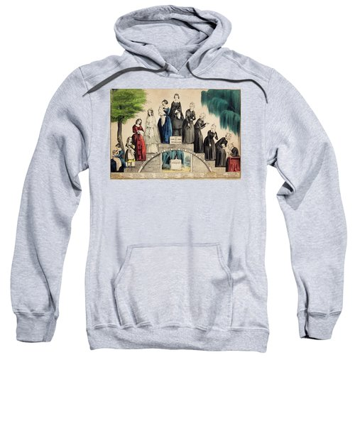 1800s 1850s Currier & Ives Illustration Sweatshirt