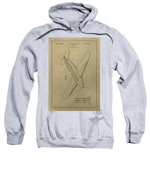 1934 Mail Plane Patent Sweatshirt