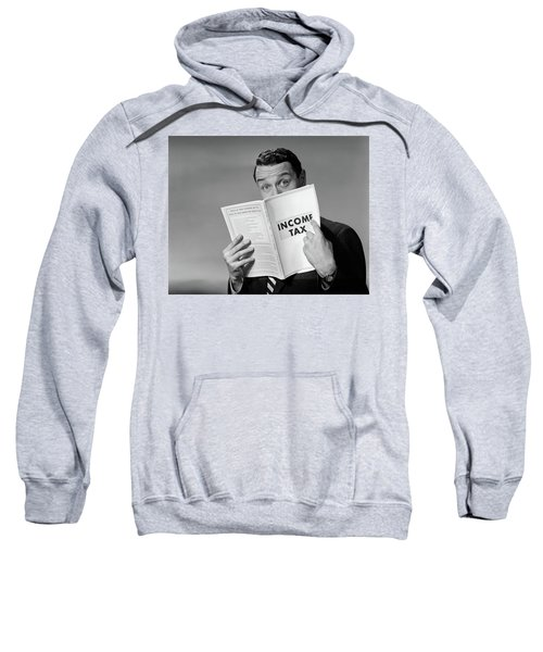 1950s Man In Suit Nose In Income Tax Sweatshirt
