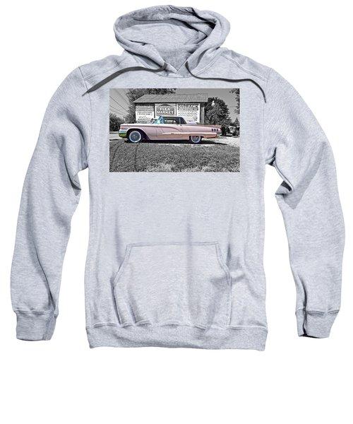 1960 Thunderbird Bw Sweatshirt