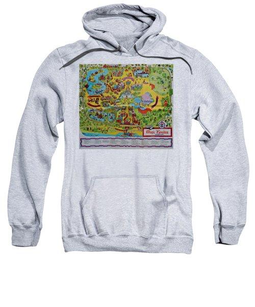 1971 Original Map Of The Magic Kingdom Sweatshirt