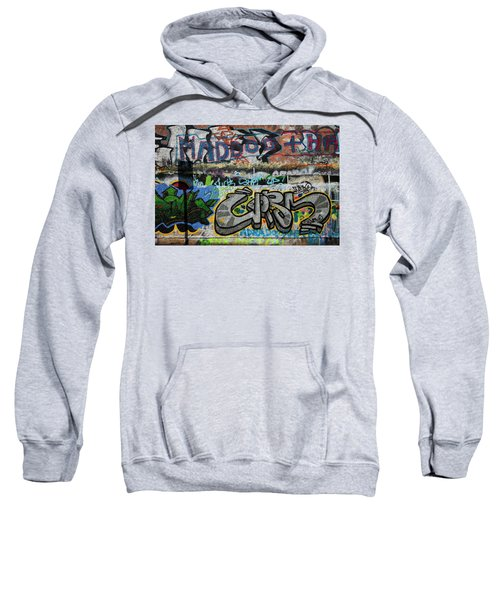 Artistic Graffiti On The U2 Wall Sweatshirt by Panoramic Images