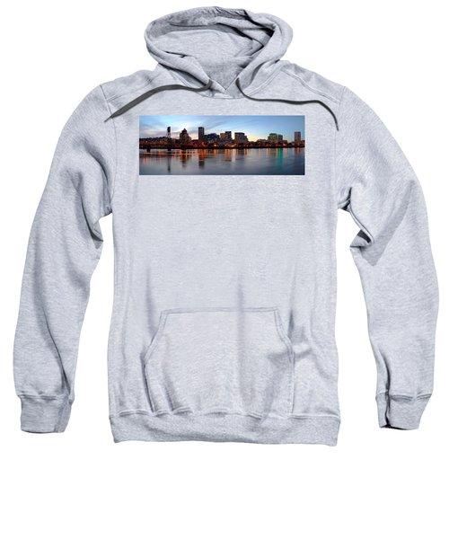 Buildings At The Waterfront, Portland Sweatshirt