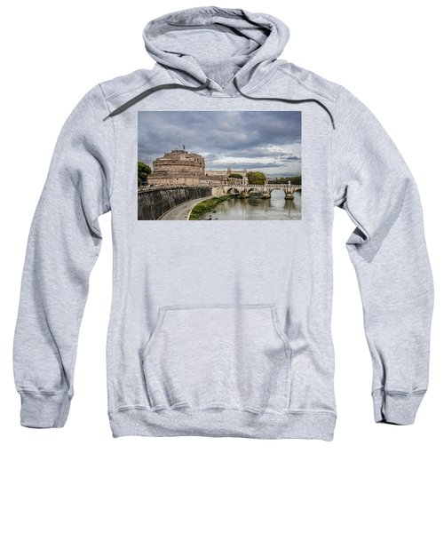 Castle St Angelo In Rome Italy Sweatshirt
