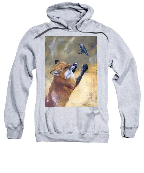 Fox Dances For Hummingbird Sweatshirt