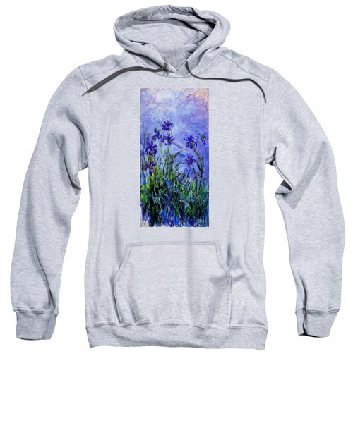 Sweatshirt featuring the painting Irises by Celestial Images