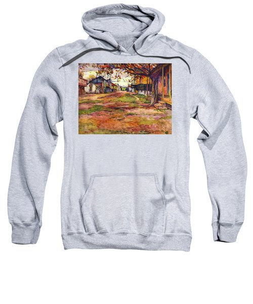 Main Street Of Early Spanish California Days San Juan Bautista Rowena M Abdy Early California Artist Sweatshirt