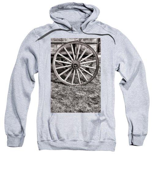 Old Wagon Wheel On Cart Sweatshirt