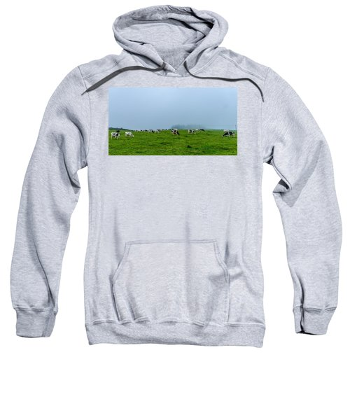 Sweatshirt featuring the photograph Cows In The Field by Joseph Amaral