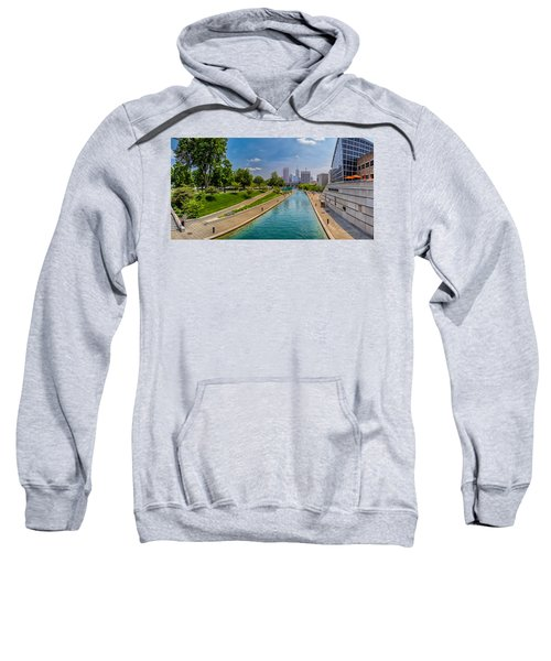 Indianapolis Skyline From The Canal Sweatshirt