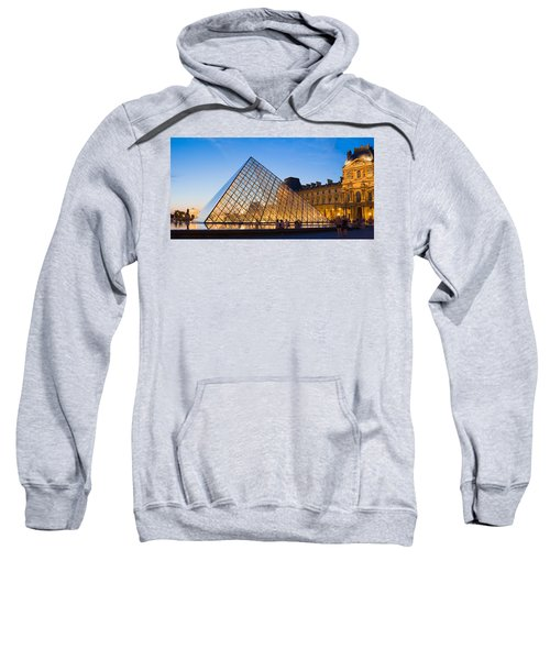 Pyramid In Front Of A Museum, Louvre Sweatshirt