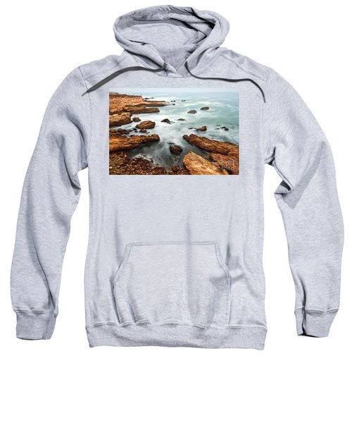 The Jagged Rocks And Cliffs Of Montana De Oro State Park In California Sweatshirt