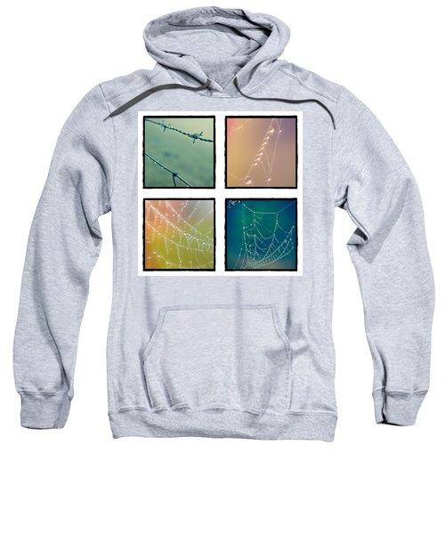 4 Color Web Droplets Sweatshirt