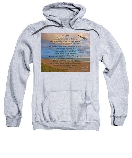 40- Wild Geese Mary Oliver Sweatshirt