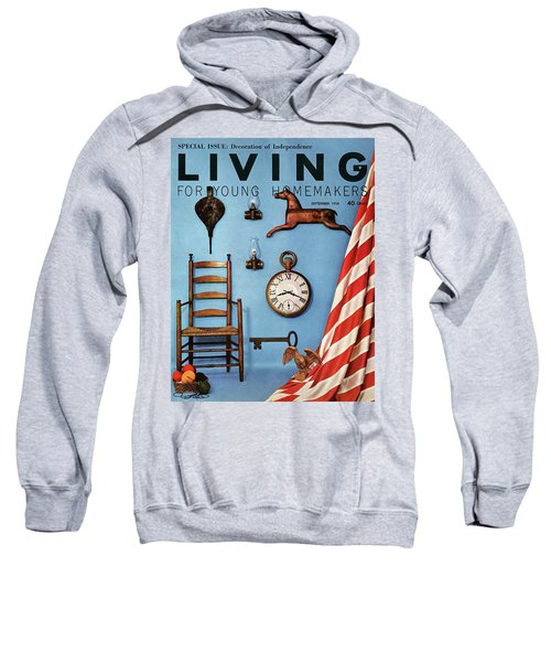 A Blue Wall With Decorations Sweatshirt