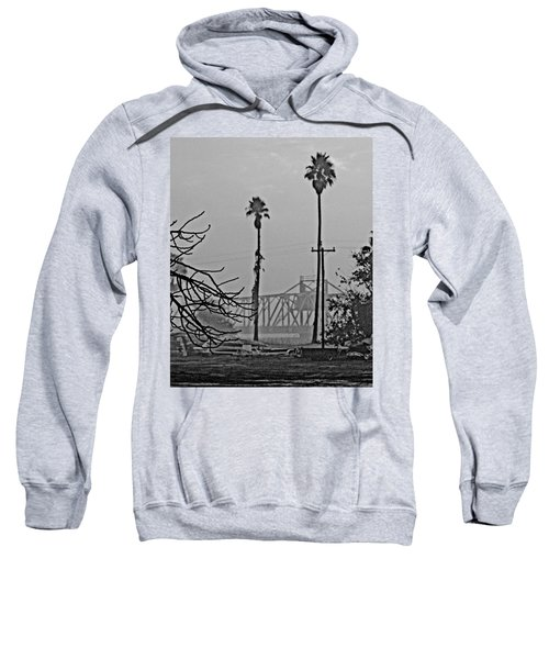 a Delta drawbridge in the morning mist Sweatshirt