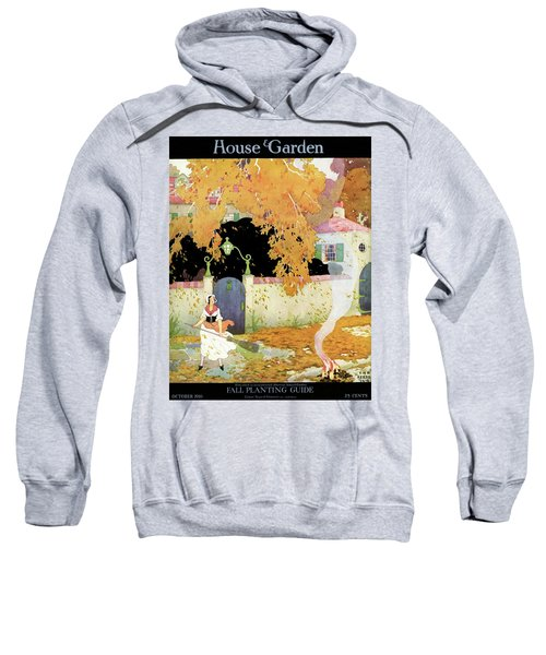 A Girl Sweeping Leaves Sweatshirt