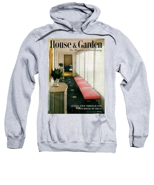 A House And Garden Cover Of A Hallway Sweatshirt
