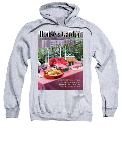 A House And Garden Cover Of Al Fresco Dining Sweatshirt