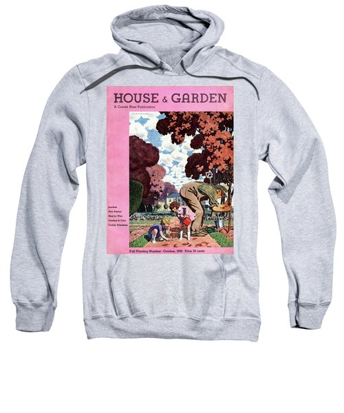 A House And Garden Cover Of People Gardening Sweatshirt