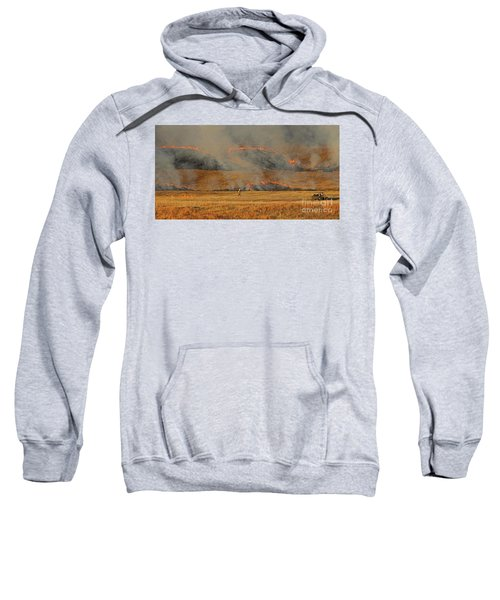 A Lone Firefighter On The Norbeck Prescribed Fire. Sweatshirt