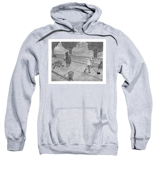 A Man Walking His Dog Sees A Mysterious Figure Sweatshirt