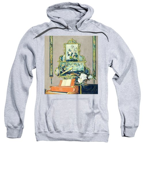 A Painting Of A House Interior Sweatshirt