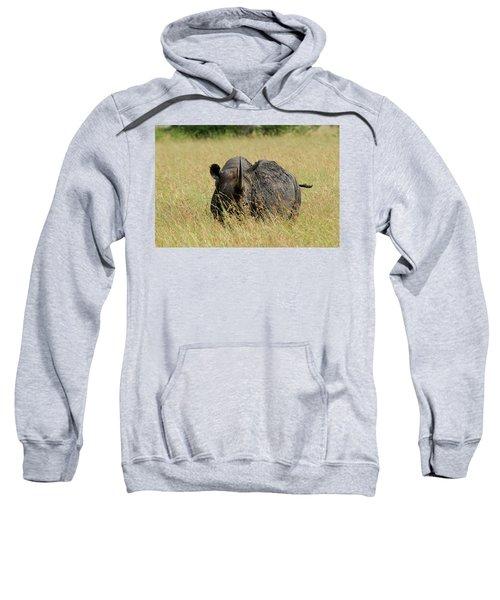 A Rhino Standing In The Grass Sweatshirt